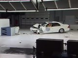 2001 Lexus LS 430 moderate overlap IIHS crash test