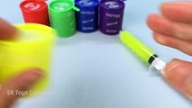 Colours Gooey Slime in Syringes How to Make Slime Syringes for Kids