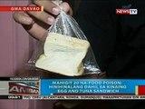 Mahigit 20 taga-Davao City; hinihinalang na-food poison dahil sa kinaing egg and tuna sandwich