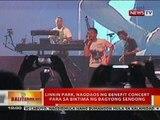BT: Linkin Park, nagdaos ng benefit concert para sa biktima ng Bagyong Sendong sa MOA Arena