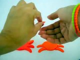 Easy make Play Doh Crab cut out