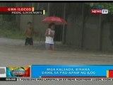 BP: Mga kalsada sa Ilocos Norte, binaha dahil sa pag-apaw ng ilog