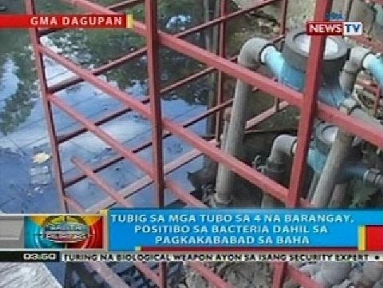 BP: Tubig sa mga tubo sa 4 na barangay sa Dagupan City, positibo sa bacteria