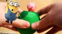 Miniony świnka peppa po polsku ciastolina Niespodzianka śmieszne kreacje z zabawki znajdujące