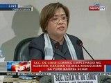 NTL: Press briefing ni Sec. Leila de Lima