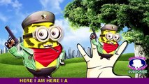 Minions police king kong cartoon finger family   batman ABC song 123 numbers for kids