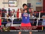 Pacquiao, sumasabak sa mas matinding exercises at jogging para sa laban nila ni Brandon Rios