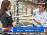 NTG: Lebel ng tubig sa Bustos Dam, patuloy na binabantayan
