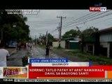 BT: NDRRMC: 3 patay at 4 nawawala dahil sa Bagyong Santi