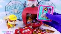 Happy Halloween Paw Patrol Marshall Pumpkin Candy Toy Surprises Fun Kids Video