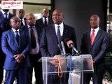Mamadou Coulibaly s'exprime, après la rencontre avec le ministre Hamed Bakayoko