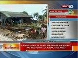 BT: Ilang lugar sa Eastern Samar na binayo ng Bagyong Yolanda, isolated