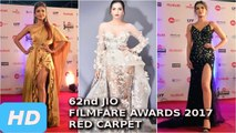 62nd Jio Filmfare Awards 2017 Star-Studded RED CARPET