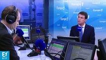 """Manuel Valls : """"Donald Trump s'exprime d'une drôle de manière"""" sur l'Europe"""