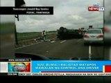 BP: SUV, bumali-baligtad sa SCTEX sa bahagi ng Porac, Pampanga