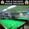 totally insane trick shot. The most insane pool trickshot EVER. snooker tricks. SKILLS.