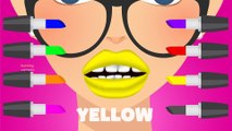 Learn Colors with Lipstick Colours to Kids Children Toddlers - Learning Funny Baby Play Videos