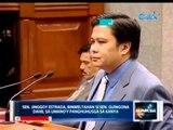 Sen. Jinggoy Estrada, binweltahan si Sen. TG Guingona dahil sa umano'y panghuhusga sa kanya