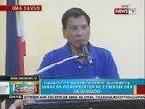 BP: Davao City Mayor Duterte, nagbanta laban sa mga operator ng cybersex den sa lungsod