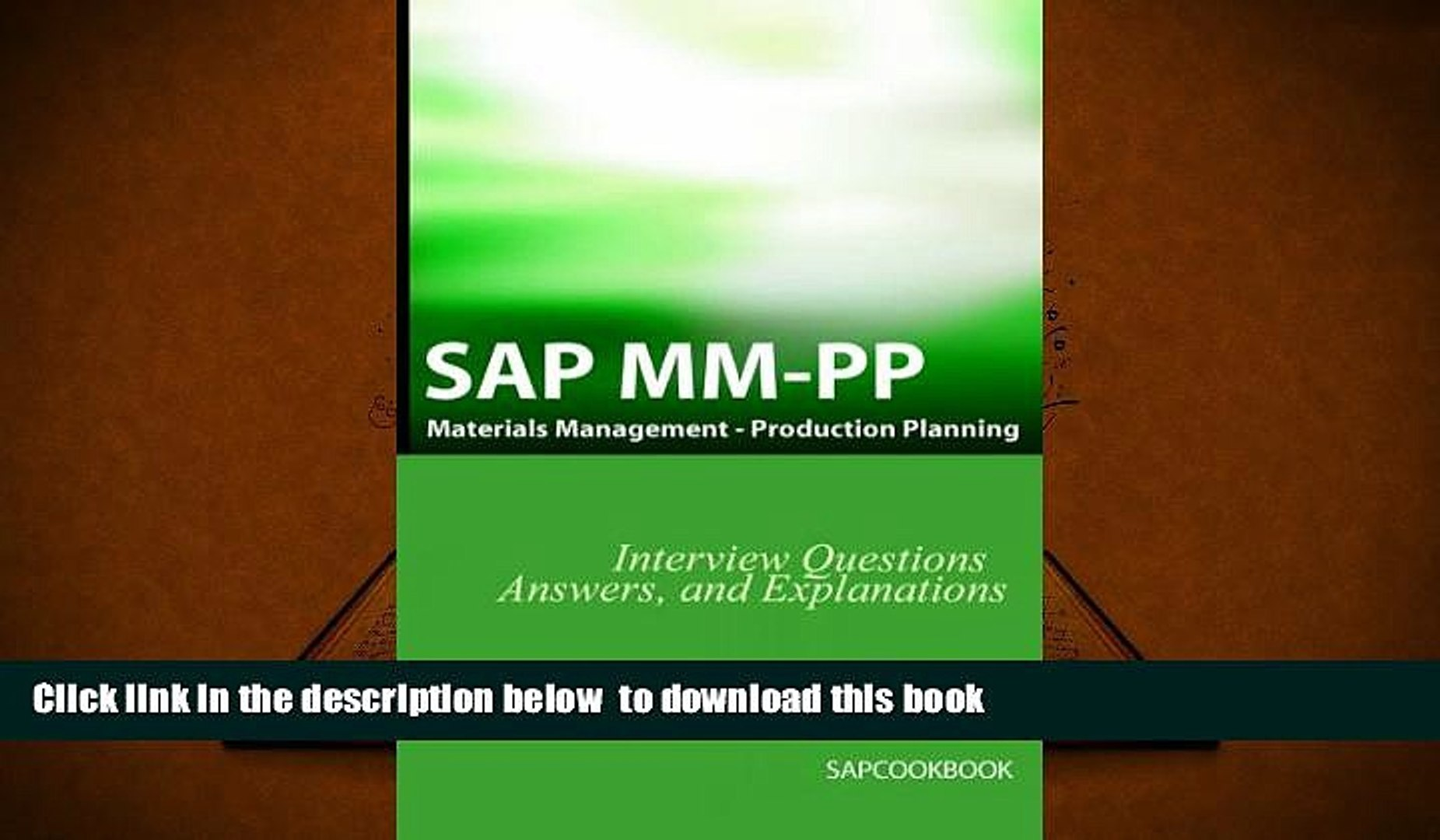 PDF [FREE] DOWNLOAD SAP MM / PP Interview Questions, Answers, and  Explanations: SAP Production