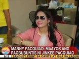 UB: Manny Pacquiao: Maayos ang pagbubuntis ni Jinkee Pacquiao