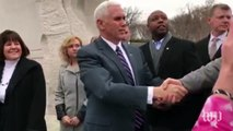 Pence is asked 'how will the administration support Mr. King's ideals?'