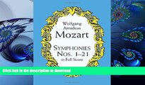 FREE [DOWNLOAD] Symphonies Nos. 1-21 in Full Score (Dover Music Scores) Wolfgang Amadeus Mozart