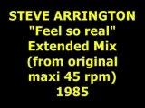 """STEVE ARRINGTON  """"Feel so real""""  Maxi 45 rpm"""