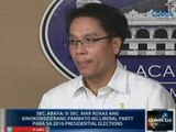 Sec. Abaya: Si Sec. Roxas ang kinokonsiderang pambato ng LP para sa 2016 presidential elections
