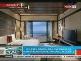 BP: U.S. Pres. Obama, nag-overnight sa mamahaling Sofitel Imperial Residence