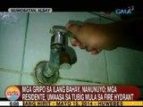 UB: Mga gripo sa ilang bahay sa Albay, nanunuyo; mga residente, umaasa sa tubig sa fire hydrant