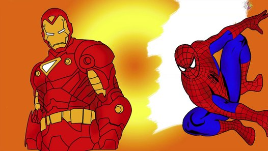 Spiderman and Ironman and Hulk Coloring Pages - Video ...