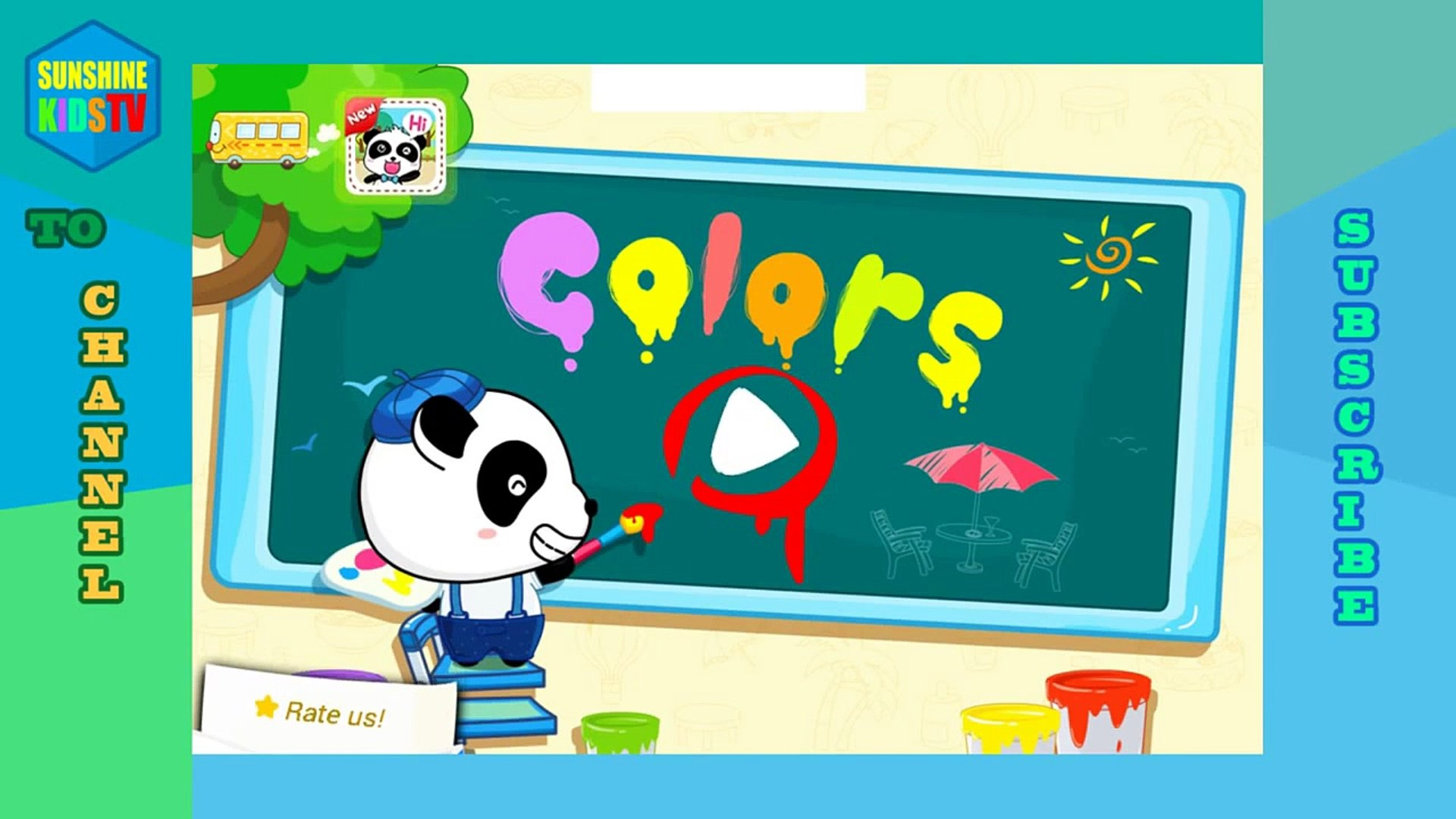 Kids Game app Panda and colors Coloring for kids Education game app for Android