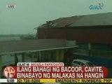 UB: Ilang bahagi ng Bacoor, Cavite, binabayo ng malakas na hangin