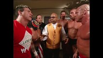 Eddie Guerrero, RVD, Rey Mysterio, Kurt Angle, Luther Reigns, Mark Jindrak, Theodore Long Backstage SmackDown 10.28.2004