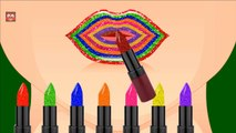 Learn Colors with Color Lipstick   Colours to Kids Children Toddlers Baby   Lear