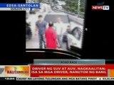 BT: Driver ng SUV at AUV, nagkaalitan; isa sa mga driver, nanutok ng baril
