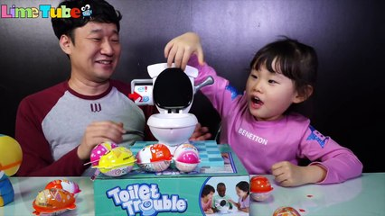 Pee Toilet Boardgame Challenge Surprise Egg - LimeTube&Toy