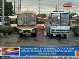 NTG: Pag-gamit sa Alabang South Station bilang provincial bus terminal, ipinagpaliban