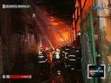 Saksi: Pag-apula sa nasunog na 3 warehouse, pahirapan dahil sa makitid na daan