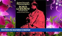 DOWNLOAD EBOOK Boris Godunov in Full Score (Rimsky-Korsakov Version) Modest Petrovich Moussorgsky