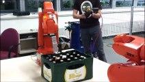 Cet appareil décapsule 20 bières en même temps.. Bravo les allemands