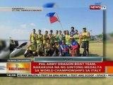 BT: Phl Army Dragon Boat Team, nakakuha na ng gintong medalya sa World Championships sa Italy