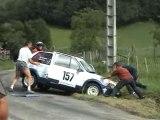 rallye Chartreuse 04 sortie de route crash