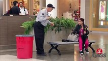 Cop Gets Stuck In Trash Can! - Just For Laughs Gags