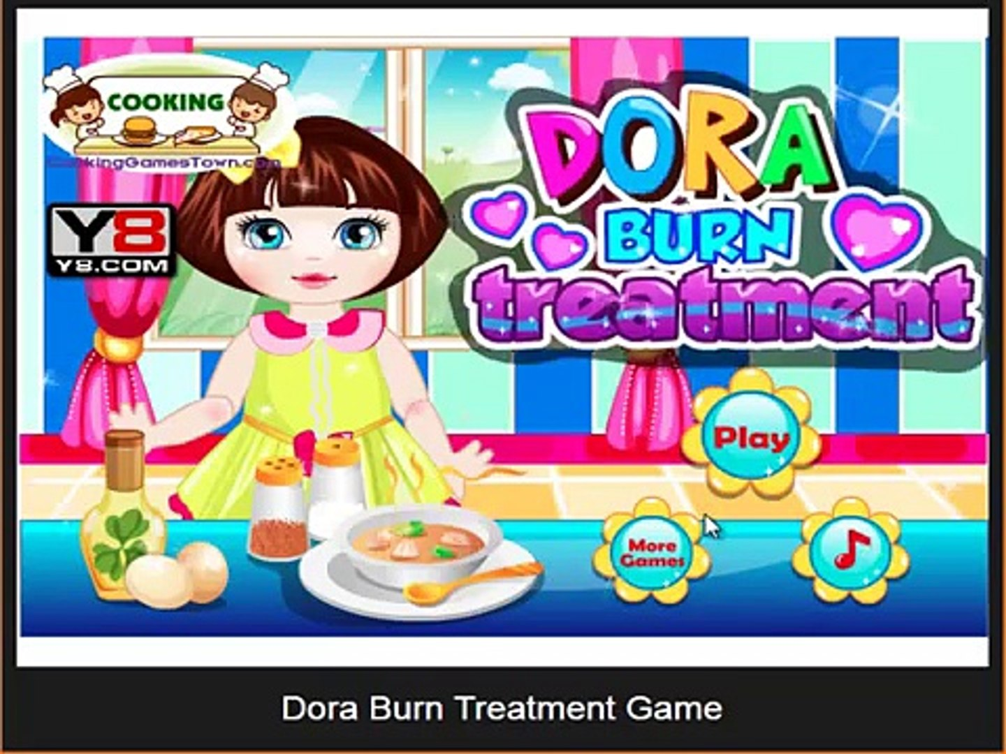 Dora burn treatment game , best game for kids , super game for childrens , fun for kids , nice game