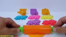 Fun Learning Colours with Playdough Lions with Moulds