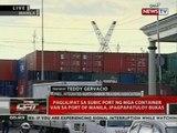 Paglilipat sa Subic Port ng mga container van sa Port of Manila, ipagpapatuloy bukas