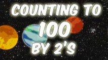 Counting with Planets | Counting to 100 by 2s | Counting by 2s | Count by 2s to 100