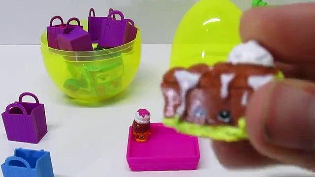 SHOPKINS Surprise Egg Kylie Cone Play-Doh Surprise Egg with SHOPKINS Surprise Toys!